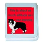 OYOOS Dog Attitude design baby blanket