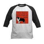 OYOOS Dog Attitude design Kids Baseball Jersey
