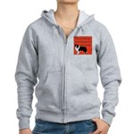 OYOOS Dog Attitude design Women's Zip Hoodie