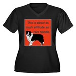 OYOOS Dog Attitude design Women's Plus Size V-Neck