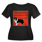 OYOOS Dog Attitude design Women's Plus Size Scoop