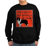 OYOOS Dog Attitude design Sweatshirt (dark)