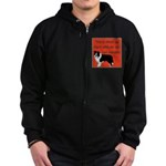 OYOOS Dog Attitude design Zip Hoodie (dark)