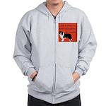 OYOOS Dog Attitude design Zip Hoodie