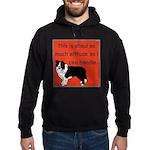 OYOOS Dog Attitude design Hoodie (dark)