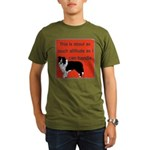 OYOOS Dog Attitude design Organic Men's T-Shirt (d
