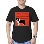 OYOOS Dog Attitude design Men's Fitted T-Shirt (da