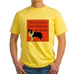 OYOOS Dog Attitude design Yellow T-Shirt