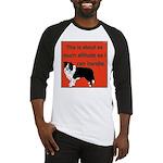 OYOOS Dog Attitude design Baseball Jersey