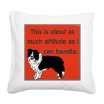 OYOOS Dog Attitude design Square Canvas Pillow