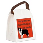 OYOOS Dog Attitude design Canvas Lunch Bag