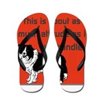 OYOOS Dog Attitude design Flip Flops