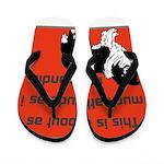 OYOOS Dog Attitude design Flip Flops