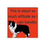 OYOOS Dog Attitude design Square Sticker 3