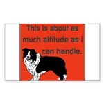 OYOOS Dog Attitude design Sticker (Rectangle 50 pk