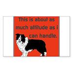 OYOOS Dog Attitude design Sticker (Rectangle 50 pk