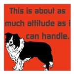 OYOOS Dog Attitude design Square Car Magnet 3