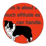 OYOOS Dog Attitude design Round Car Magnet