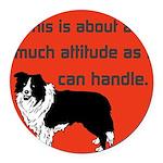 OYOOS Dog Attitude design Round Car Magnet