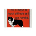 OYOOS Dog Attitude design Rectangle Magnet (10 pac