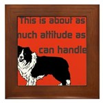 OYOOS Dog Attitude design Framed Tile