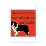 OYOOS Dog Attitude design Mini Poster Print