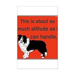 OYOOS Dog Attitude design Mini Poster Print