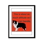 OYOOS Dog Attitude design Framed Panel Print