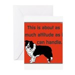 OYOOS Dog Attitude design Greeting Cards (Pk of 20