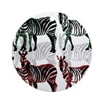 OYOOS Zebra design Ornament (Round)