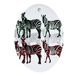 OYOOS Zebra design Ornament (Oval)