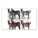 OYOOS Zebra design Sticker (Rectangle 10 pk)