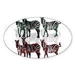 OYOOS Zebra design Sticker (Oval 10 pk)