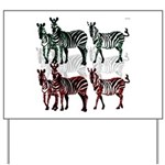 OYOOS Zebra design Yard Sign