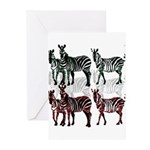 OYOOS Zebra design Greeting Cards (Pk of 10)