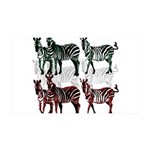 OYOOS Zebra design 35x21 Wall Decal