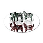 OYOOS Zebra design 35x21 Oval Wall Decal