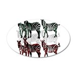 OYOOS Zebra design 20x12 Oval Wall Decal