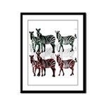 OYOOS Zebra design Framed Panel Print