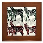 OYOOS Zebra design Framed Tile