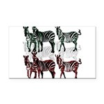 OYOOS Zebra design Rectangle Car Magnet