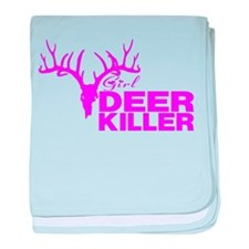 GIRL DEER KILLER baby blanket