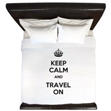 Keep Calm Travel On King Duvet