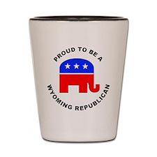 Wyoming Republican Pride Shot Glass