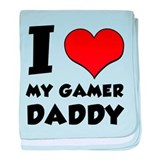 I Love My Gamer Daddy baby blanket