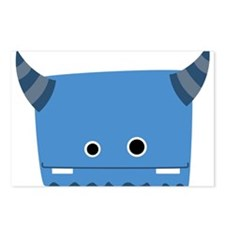 Blue Horned Monster Postcards (Package of 8)