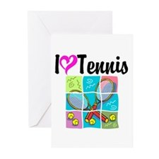 I LOVE TENNIS Greeting Cards (Pk of 10)