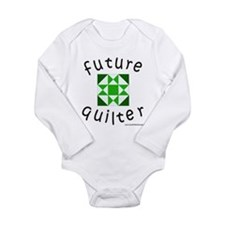 Cute Art quilt Long Sleeve Infant Bodysuit