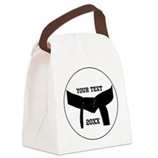 Custom Martial Arts Black Belt Canvas Lunch Bag