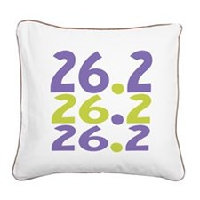 26.2 Marathon Square Canvas Pillow